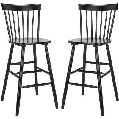Providence Bar Stool (Set of 2) - Black - Safavieh