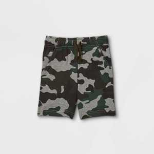 Toddler Boys' Printed French Terry Pull-On Shorts - Cat & Jack Green