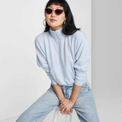 Women's Quarter Zip Sweatshirt - Wild Fable