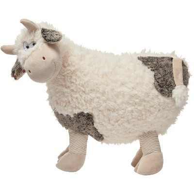 """Mina Victory Plush Cow Ivory 14"""" x 24"""" Stuffed Animal"""