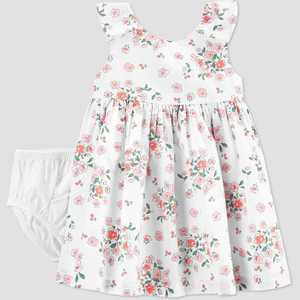 Baby Girls' Easter Dressy Floral Dress - Just One You made by carter's White