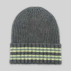 Women's Striped Cuffed Beanie - A New Day