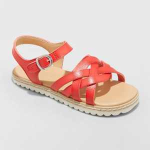 Toddler Girls' Vinessa Ankle Strap Sandals - Cat & Jack Red