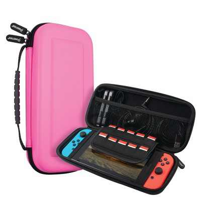 Insten Carrying Case for Nintendo Switch, Portable Travel Hard Cover Pouch with Hand Strap, Pink
