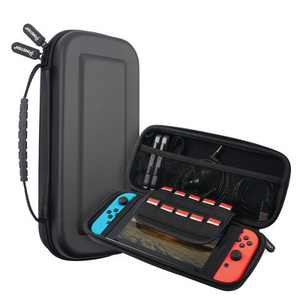 Insten Carrying Case With 10 Game Slots For Nintendo Switch, Controllers and Accessories - Portable Travel Cover, Black
