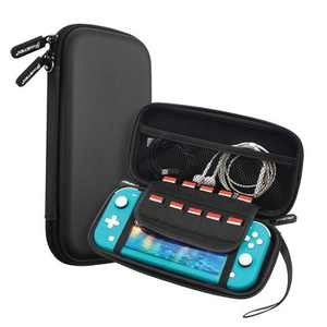 Insten Carry Case for Nintendo Switch Lite - Portable Hard Shell Travel Pouch for Console & Accessories, Black