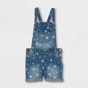 Girls' Star Double Cuff Hem Jean Shorts - Cat & Jack Medium Wash