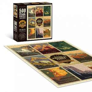 """Americanflat 500 Piece Jigsaw Puzzle, 18x24 Inches, """"American National Parks 4 """" Art by Anderson Design Group"""
