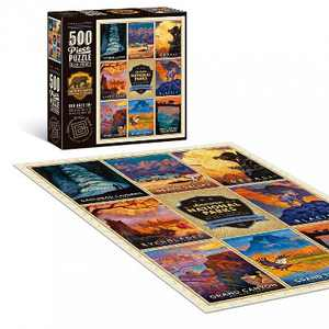 """Americanflat 500 Piece Jigsaw Puzzle, 18x24 Inches, """"American National Parks 2"""" Art by Anderson Design Group"""