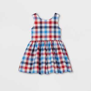 Toddler Girls' Gingham Dress - Cat & Jack Red/White/Blue