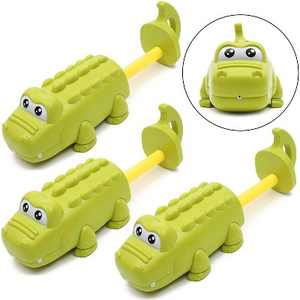 3-Pack Mini Alligator Water Gun, Crocodile Water Blaster Squirt Guns Set for Kids Swimming Pool Toys, Outdoor Play Games, Summer Party Favors