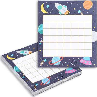 """60-Pack Classroom Incentive Charts, Motivate Nice Behavior for Teachers Students, Space Themed, 6x5.25"""""""