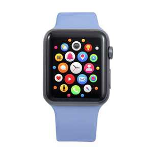 Insten Soft TPU Rubber Replacement Band for Apple Watch 42mm 44mm All Series SE 6 5 4 3 2 1, Lilac Purple