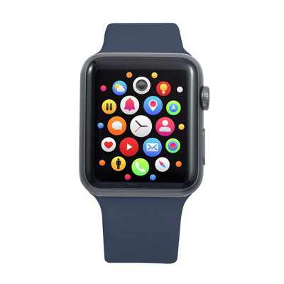 Insten Soft TPU Rubber Replacement Band for Apple Watch 42mm 44mm All Series SE 6 5 4 3 2 1, Blue