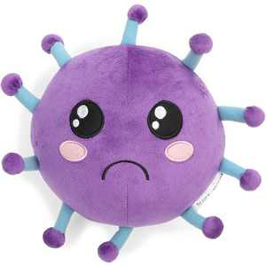 Microbe Plush Toy Stuffed Doll, Health Education Material to Teach Kids Personal Hygiene, Cough, Educational Toys, Purple 9""
