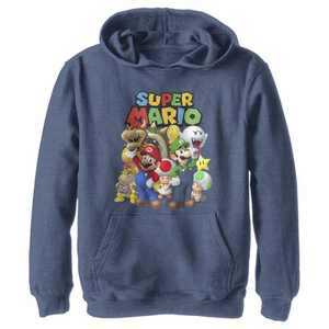 Boy's Nintendo Super Mario Group Pull Over Hoodie