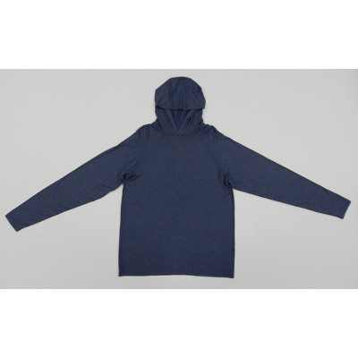 Hanes Men's Hooded Athletic Pullover - Navy Heather