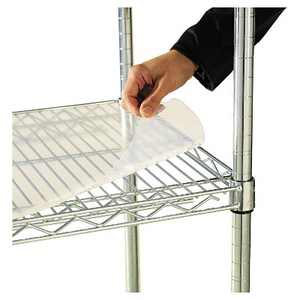 Alera Shelf Liners For Wire Shelving, Clear Plastic, 36w x 18d, 4/Pack SW59SL3618