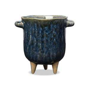 TAG Beryl Planter Small Stoneware Flower Pot With 3 Feet Decorative Home Decor