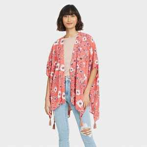 Women's Floral Print Short Sleeve Jacket - Knox Rose