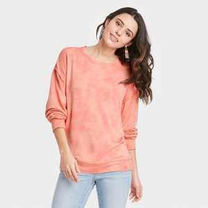 Women's Ruffle Detail Sweatshirt - Knox Rose
