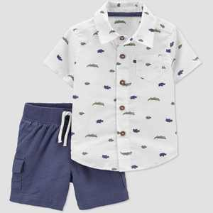 Baby Boys' 2pc Alligator Top & Bottom Set - Just One You made by carter's Navy