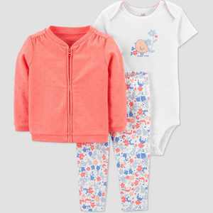 Baby Girls' Chicken Top & Bottom Set - Just One You made by carter's Coral