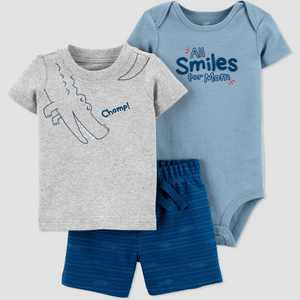 Baby Boys' Gator Top & Bottom Set - Just One You made by carter's Blue
