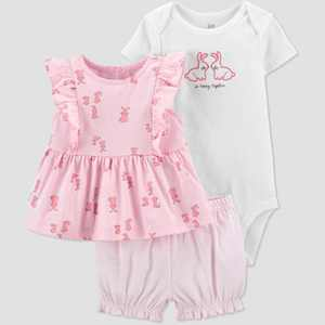 Baby Girls' Bunny Top & Bottom Set - Just One You made by carter's Pink