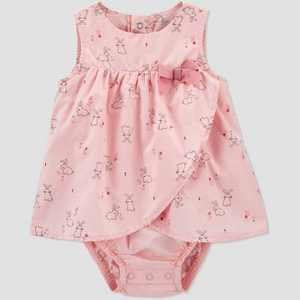 Baby Girls' Bunny Romper - Just One You made by carter's Pink