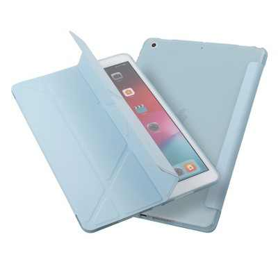 """Insten - Tablet Case for iPad 10.2"""" 2019 & 2020, Gen 7 & 8, Multifold Stand, Magnetic Cover Auto Sleep/Wake, Pencil Charging, Blue"""