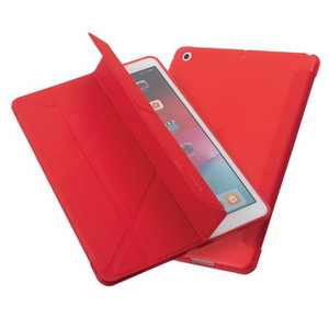 "Insten - Tablet Case for iPad Pro 10.2"" 2019 & 2020, Gen 7 & 8, Multifold Stand, Magnetic Cover Auto Sleep/Wake, Pencil Charging, Red"