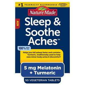 Nature Made Sleep & Soothe Aches Supplements - 50ct