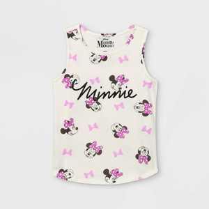 Girls' Disney Minnie Mouse Tank Top - Off-White