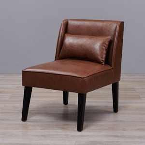 Leather Lounge Chair Brown - Versanora