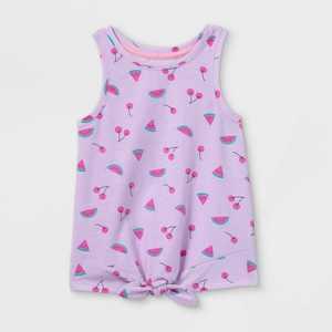 Toddler Girls' Fruit Tie-Front Tank Top - Cat & Jack Light Purple
