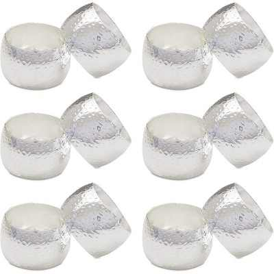 """Silver Napkin Rings Holder Set of 12 for Dining Table Wedding Party Place Setting Decor 1.8"""""""