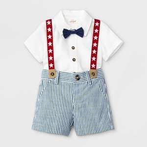 Baby Boys' Americana Star Top & Bottom Set - Cat & Jack White