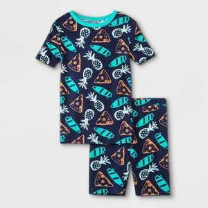 Boys' 2pc Pizza Print Pajama Set - Cat & Jack Navy