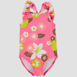 Toddler Girls' Floral One Piece Rash Guard - Just One You made by carter's Pink