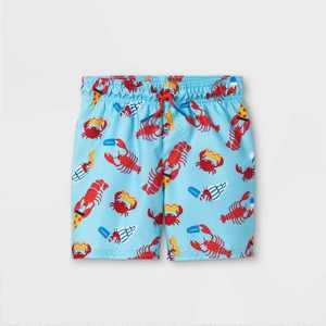 Toddler Boys' Lobster Print Swim Trunks - Cat & Jack Blue