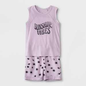 Toddler Boys' 2pc 'Sunshine Vibes' Tank Top & Shorts Set - art class Purple