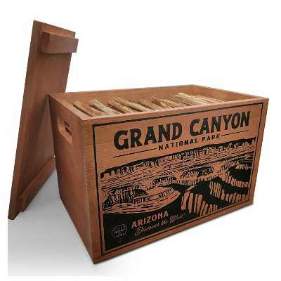Better Wood Products Limited Edition Protect the Parks Series All Natural Fatwood Fire Starter Sticks, 13 Pound Wooden Crate, Grand Canyon