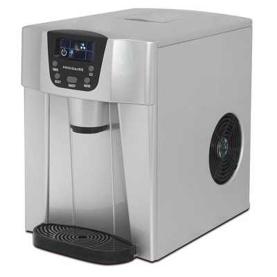 Frigidaire EFIC227 Home/Office 2 in 1 26 Pounds Countertop Compact Portable Electric Ice Cube Maker and Water Dispenser Machine, Stainless Steel