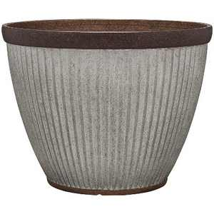 Southern Patio HDR-046868 20.5 Inch Diameter Rustic Resin Indoor Outdoor Garden Planter Urn Pot for Flowers, Herbs, and Flowers