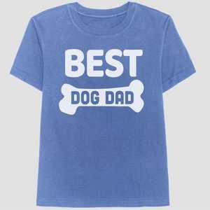 Men's 'Best Dog Dad' Short Sleeve Graphic T-Shirt - Blue M