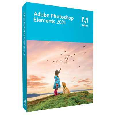 Adobe Photoshop Elements 2021 Software for Mac/Windows, DVD & Download