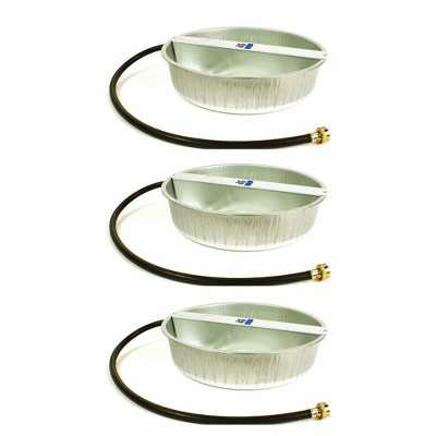 Little Giant PW13 13-Quart Capacity Rust Resistant Galvanized Steel Ever Full Pet Water Bowl Dish Attachable to Standard Hose (3 Pack)