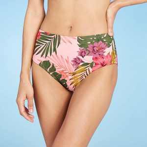 Women's High Coverage Mid-Rise Bikini Bottom - Kona Sol Pink