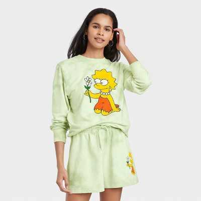 Women's Lisa Simpson Graphic Sweatshirt - Green